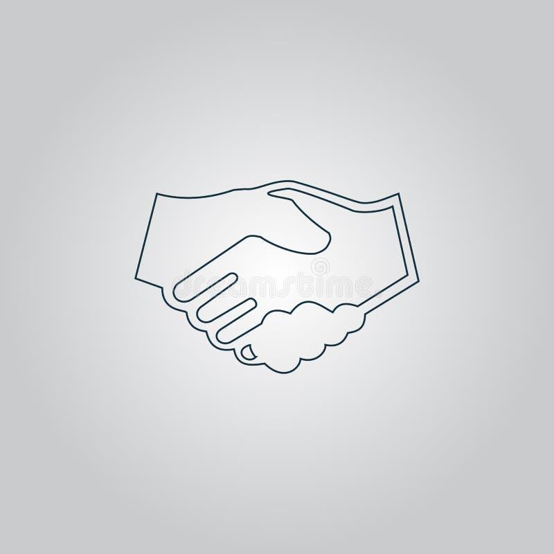 Рукопожатие Предпосылка для дела и финансов иллюстрация штока