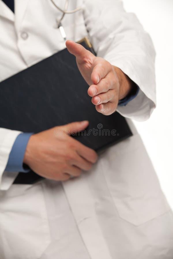 Рукопожатие с доктором стоковое изображение rf