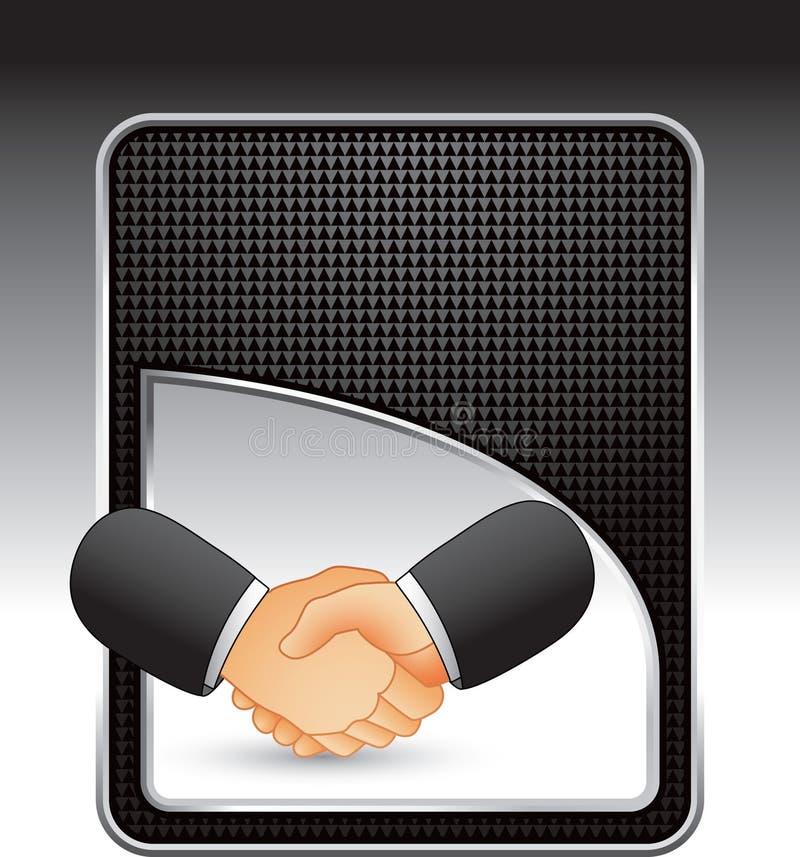 рукопожатие черного дела фона checkered бесплатная иллюстрация