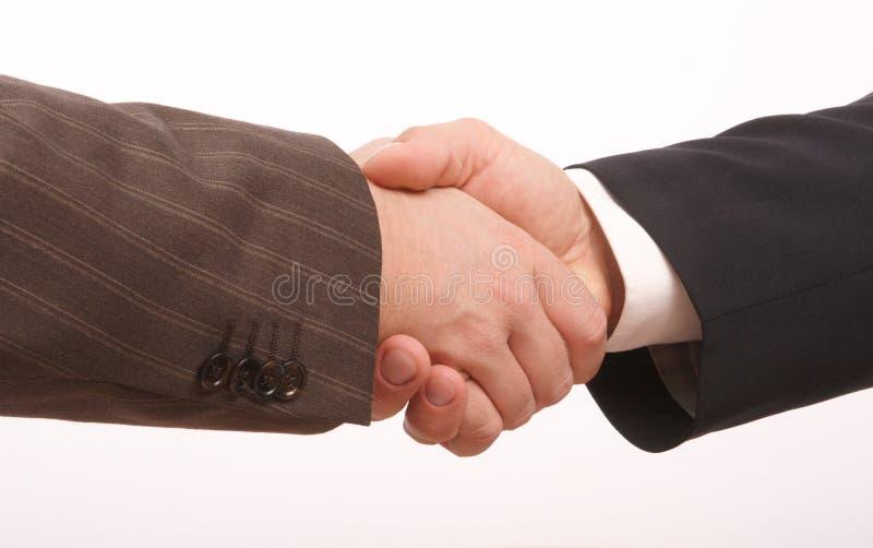 рукопожатие 2 дел стоковое изображение rf
