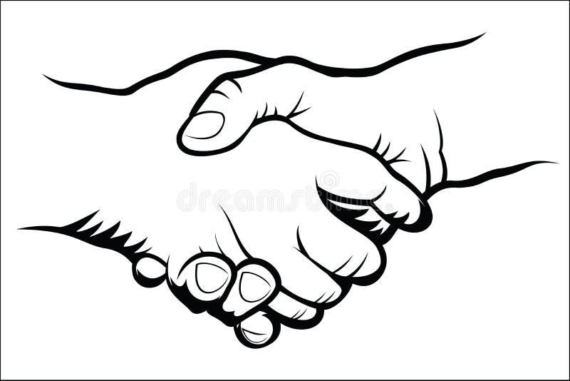 Рукопожатие иллюстрация вектора