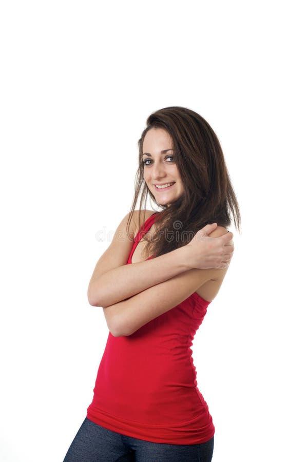 рукоятки пересекая детенышей девушки стоковое изображение
