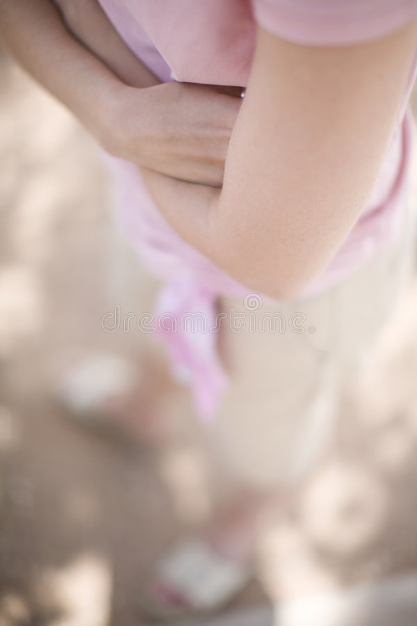 рукоятки складывая женщину стоковые фотографии rf