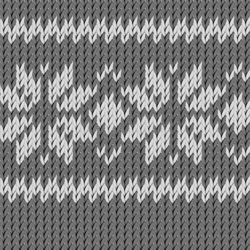 Рук-связанная предпосылка цветков текстуры серой шкалы ткани стилизованная иллюстрация штока
