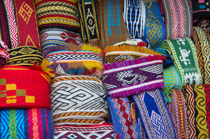 Рук-сплетенные прокладки ткани Ремесла прошлого стоковая фотография rf
