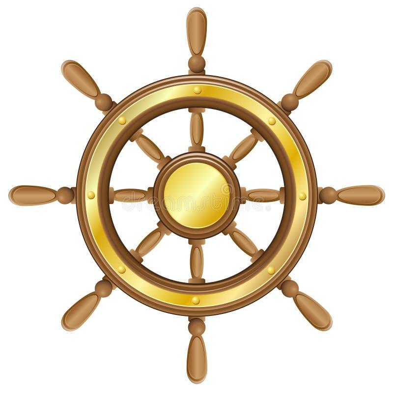 Рулевое колесо для иллюстрации вектора корабля иллюстрация вектора