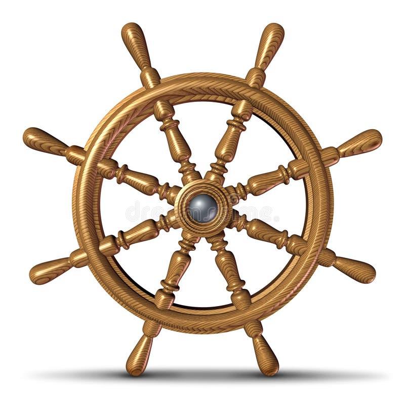 рулевое колесо шлюпки иллюстрация штока