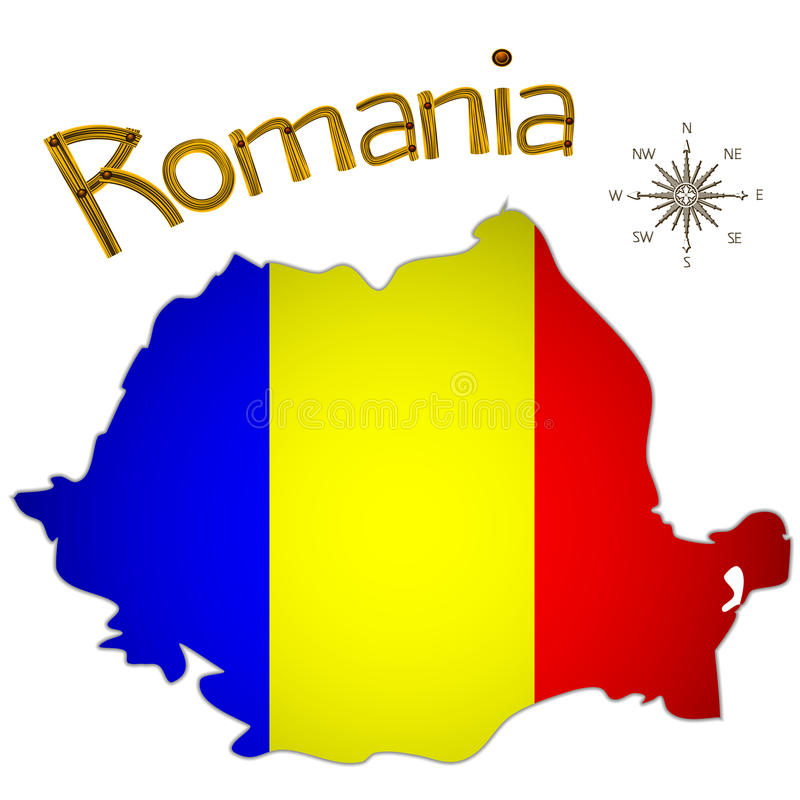 Румынская карта иллюстрация вектора