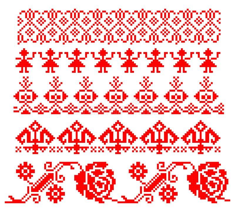 Румынская традиционная тема иллюстрация штока