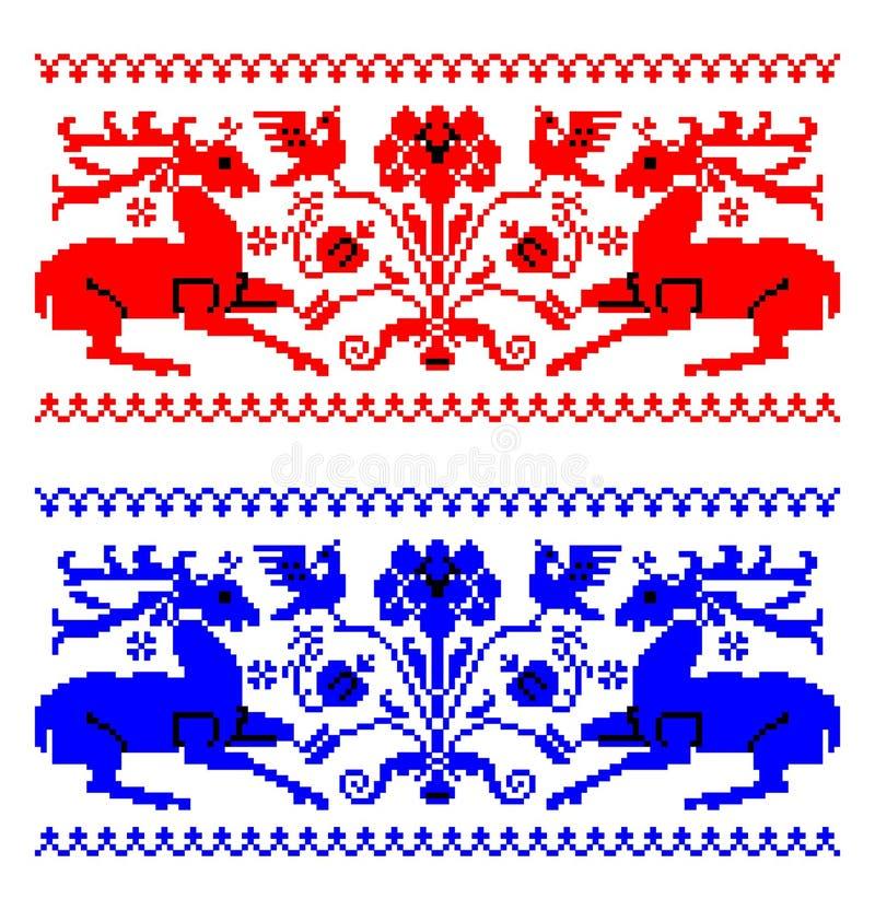 Румынская традиционная тема ковра бесплатная иллюстрация