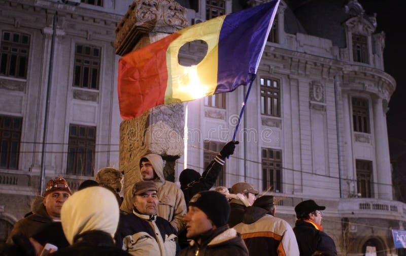 Румынские демонстранты стоковые фото