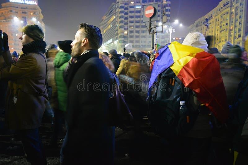 Румынские протесты стоковые фото