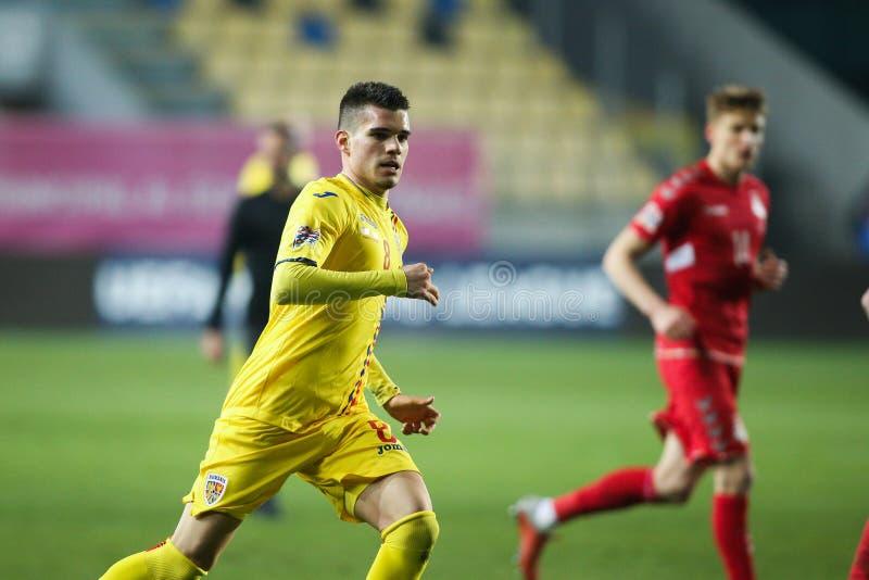 Румынский футболист Ianis Hagi стоковые изображения