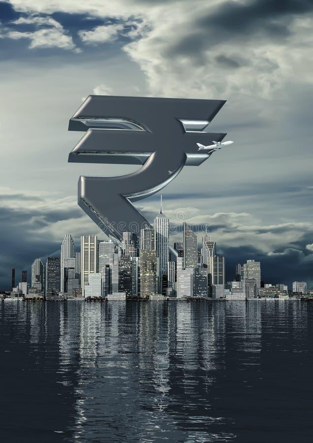 Рупия города дела стоковая фотография rf