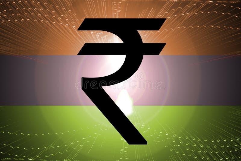 рупия флага индийская бесплатная иллюстрация