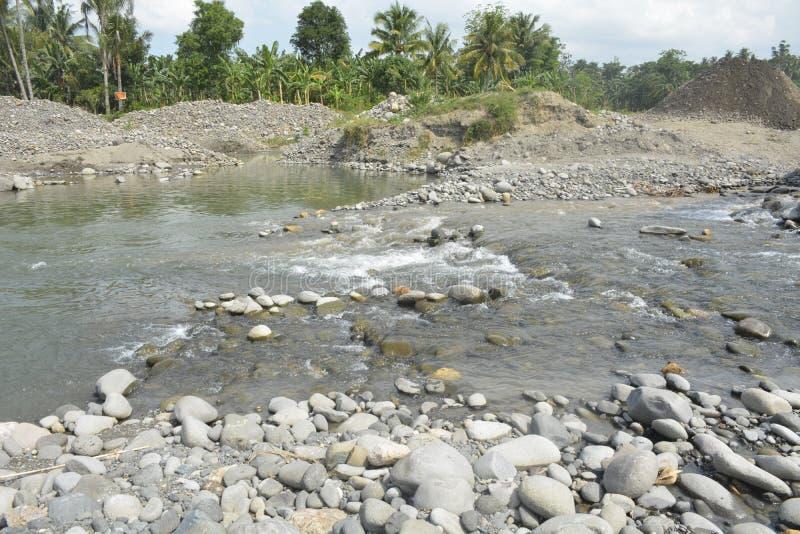 Русло реки реки Mal, Matanao, Davao del Sur, Филиппин стоковые фото