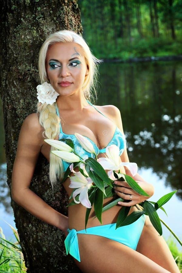 Русская девушка нимфы стоковое фото rf