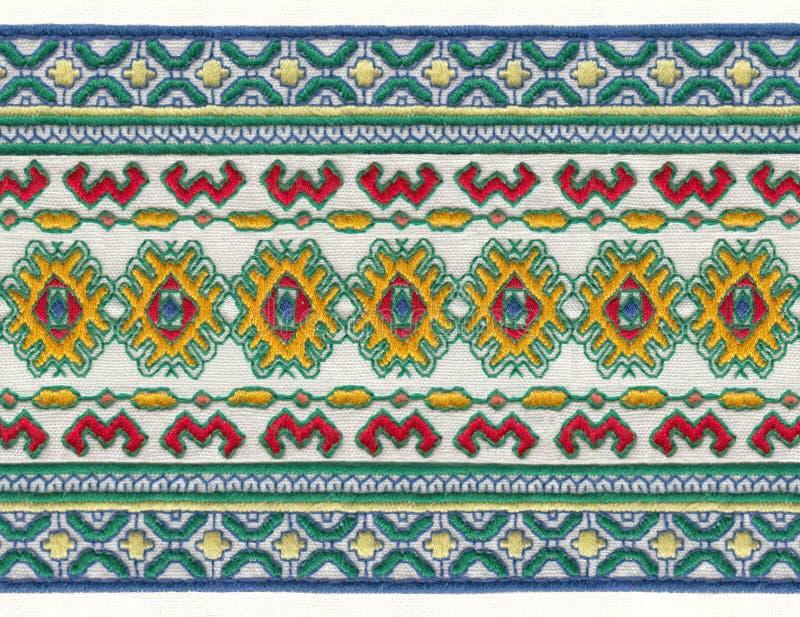 Русская национальная вышивка стоковое изображение rf