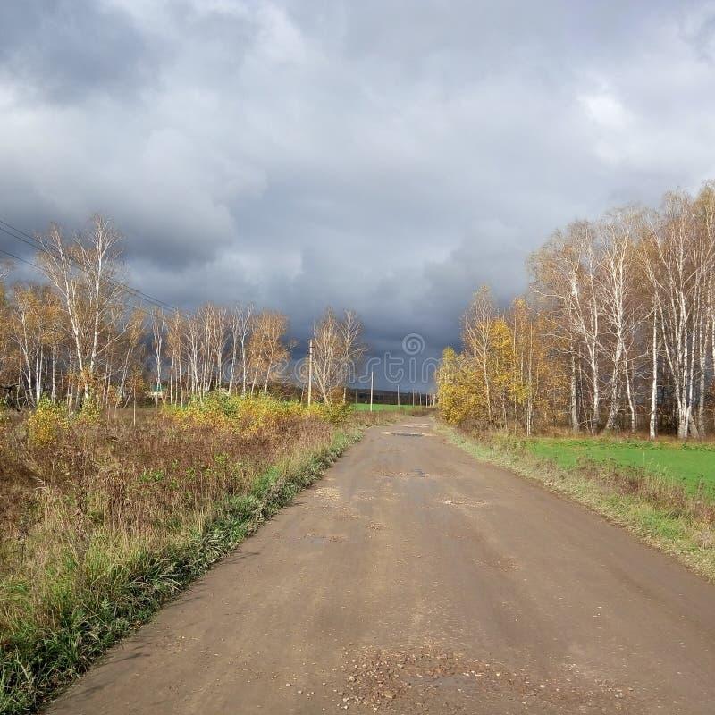 Русская дорога стоковое фото rf