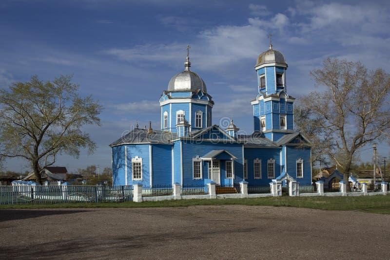 Русская православная церковь в деревне Nordovka стоковое изображение rf