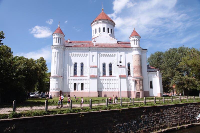 Русская православная церковь святой матери бога, Вильнюса, Lithuani стоковые изображения