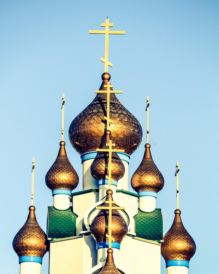 Русская православная церковь стоковое изображение rf