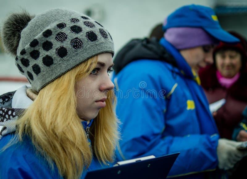 Русская пропаганда Русский поезд кампании оппозиционной партии LDPR стоковое изображение