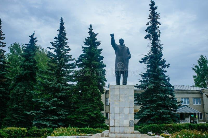 Русская родина - статуя Ленина стоковое изображение