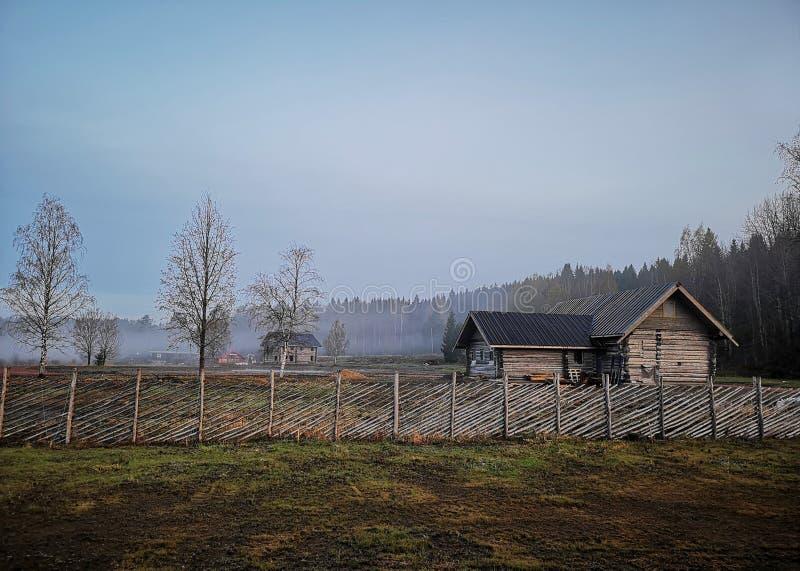 Русская старая деревня стоковая фотография rf
