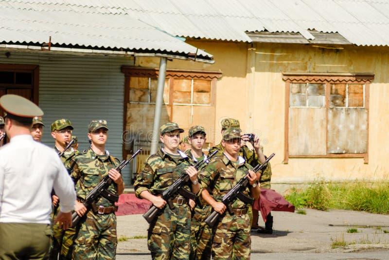 Русская сцена армии стоковая фотография