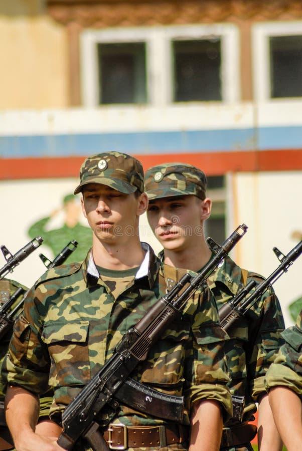 Русская сцена армии стоковые фото