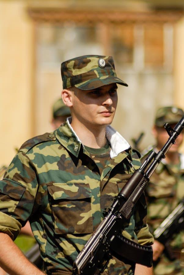 Русская сцена армии стоковые изображения rf
