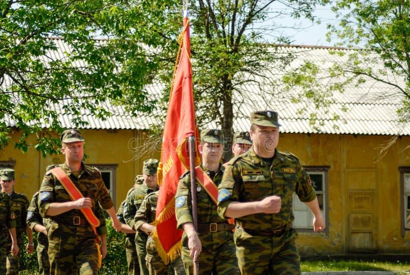 Русская сцена армии стоковая фотография rf