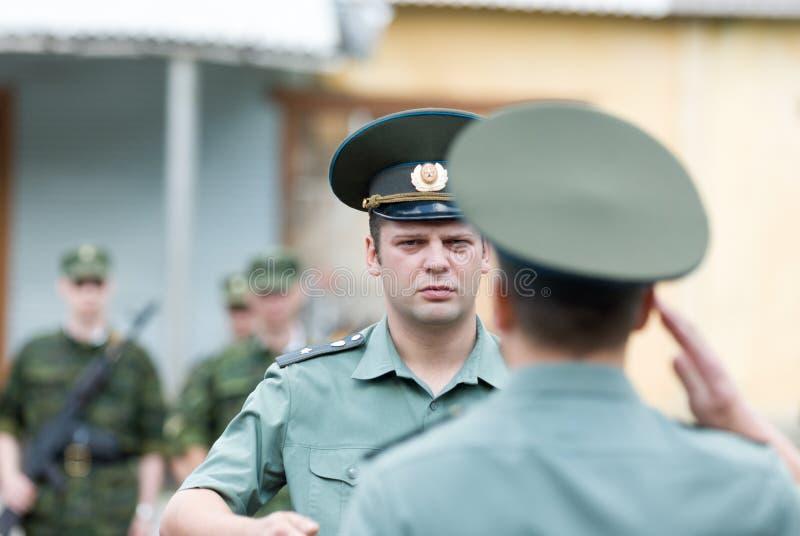 Русская сцена армии стоковое фото