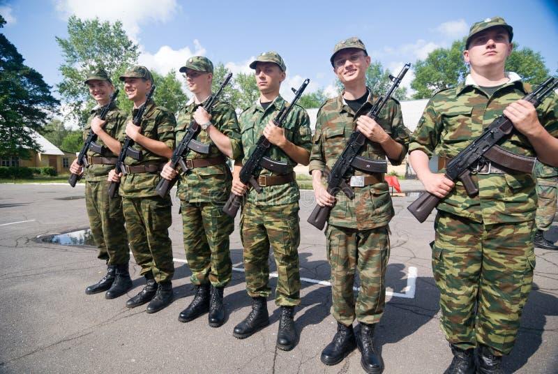 Русская сцена армии стоковое изображение
