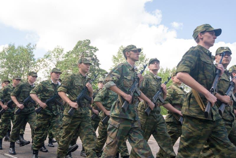 Русская сцена армии стоковое изображение rf