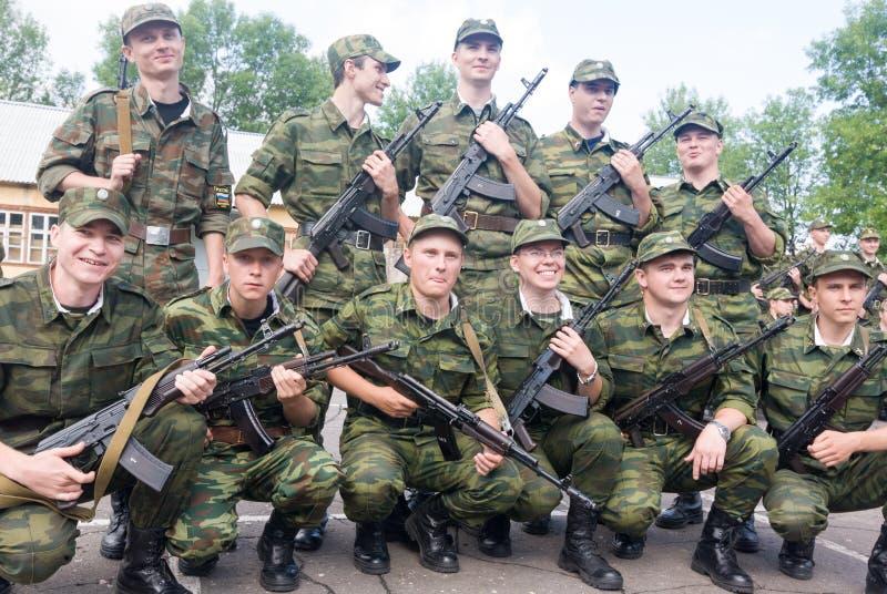 Русская сцена армии стоковое фото rf