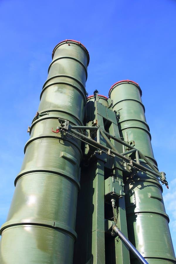 Русские ракетные комплексы S-300 стоковое изображение