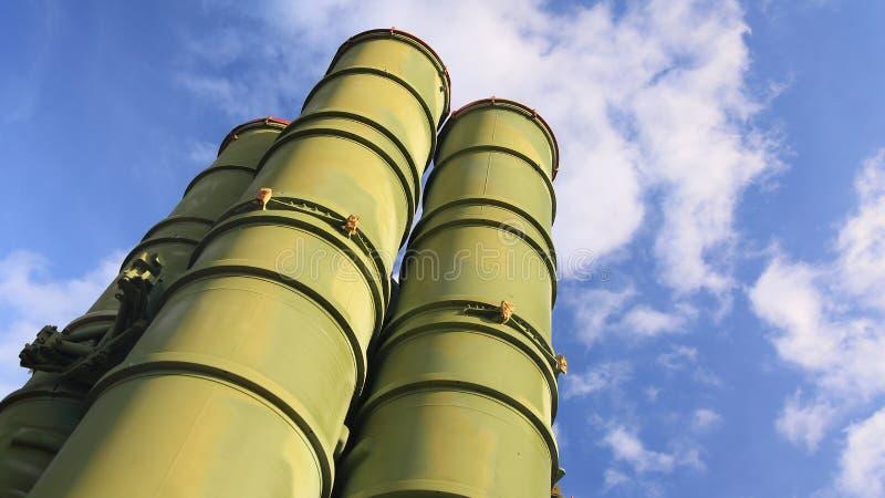 Русские ракетные комплексы S-300 стоковое фото