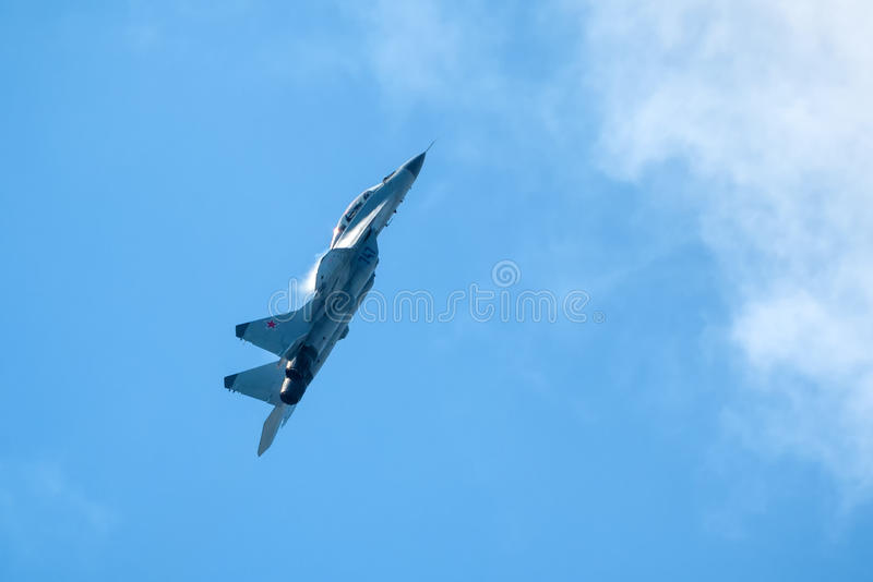 Русский боец MIG-29 забастовки стоковые фотографии rf