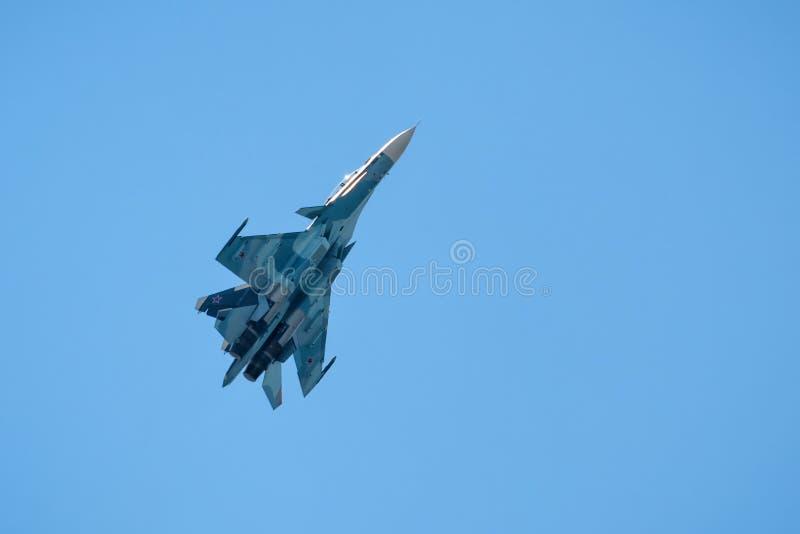 Русский боец Su-30 забастовки стоковое изображение