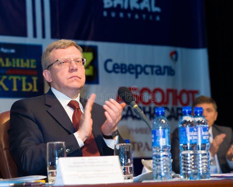 Русский бывший министр финансов Kudrin стоковые фотографии rf