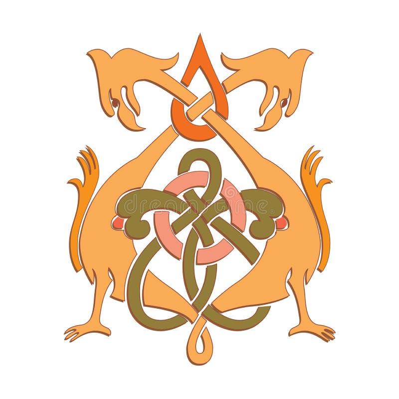Русский кельтский восточный орнамент - дизайны иллюстрации иллюстрация вектора
