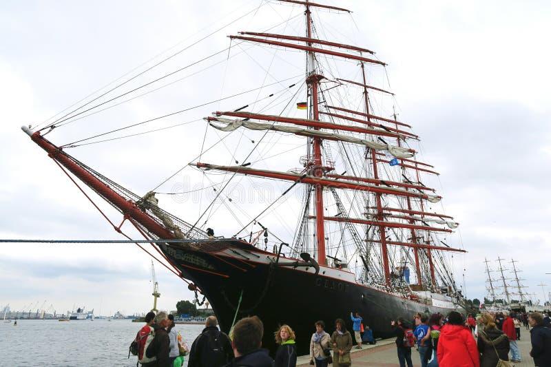 Русский корабль Kruzenshtern стоковое изображение rf