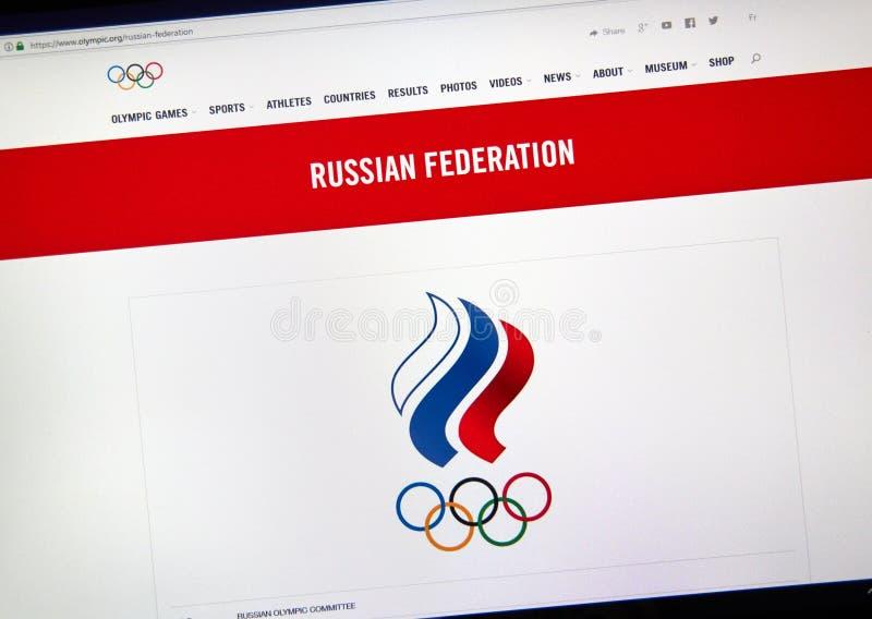 Русский национальный олимпийский комитет стоковое фото