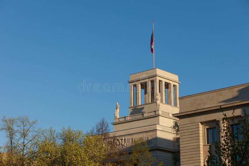 русский посольства berlin стоковое изображение