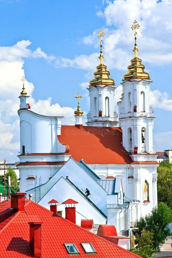 Русский правоверный собор предположения в Витебске, Беларуси стоковое изображение
