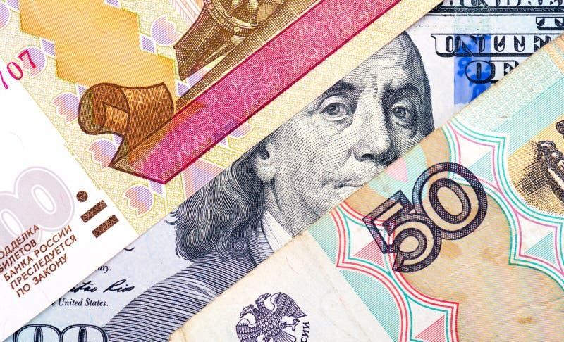 Русский рубль уценка стоковое изображение