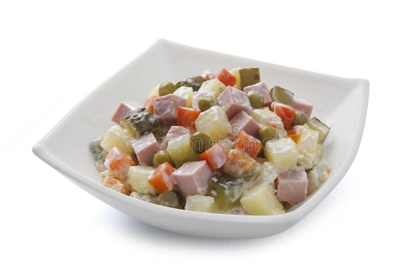 русский салат стоковые фото