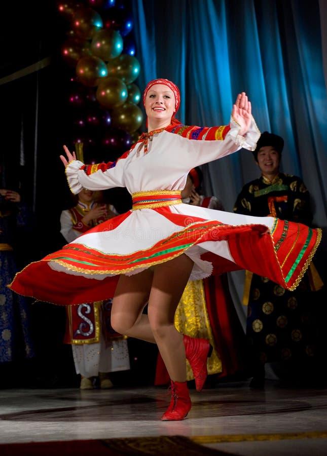 русский танцульки фольклорный стоковая фотография rf
